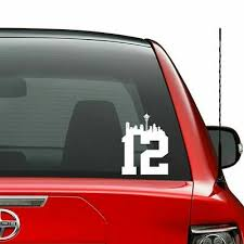 Seattle Seahawks Vinyl Sticker Decal Sizes Cornhole Truck Car Wall Bumper