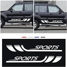 Amazon Com Custom Body Side Stripe For Kia Ceed Optima Picanto Rio Sportage Car Side Stripe Bumper Stickers Wraps Car Side Door Body Decals 2pcs Automotive