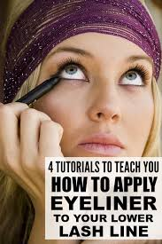 apply eyeliner to your lower lash line