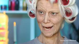 old lady lex old age makeup tutorial