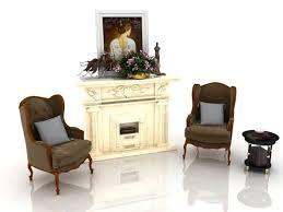 antique fireplace design free 3d model