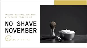 No Shave November Survival Tips - YouTube