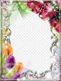 beautiful tulips free frame psd