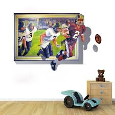 3d Football Through Wall Sticker Soccer Breaking Wall Decal Boy Room Home Wall Sticker For House Living Room Roof The Blue Sky Wall Sticker Stickers Forhome Wall Stickers Aliexpress