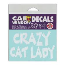 Wholesale Window Decals Crazy Cat Lady 4 5 Wide Sticker Crazy Novelty Guy