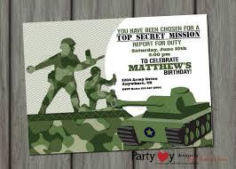 Army Invitation Template Free Con Imagenes Invitaciones