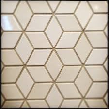 cream white diamond backsplash tile