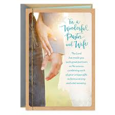 pastor and wife appreciation card