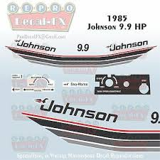 1985 Johnson 4 5hp Deluxe Sea Horse Outboard Reproduction 12 Piece Vinyl Decals Furnacerestaurant Co Nz