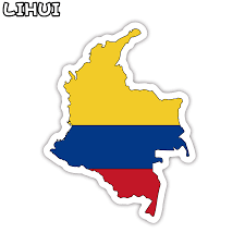 Colombian Flag Of Colombia Decal Sticker Made Usa Car Truck Window 3m Laptop