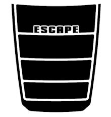 Blackout Decal Vinyl Hood Decal Matte Black Graphic Fits Ford Escape 2017 2020 6 Ebay