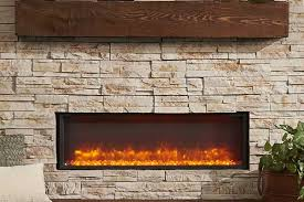 built in linear electric fireplace