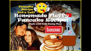 fluffy pancake recipe homemade with