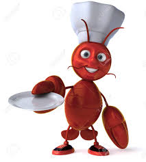 Cartoon Lobster Chef With An Empty ...