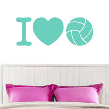 Shop I Love Volleyball Wall Decal 48 Inch X 18 Inch Overstock 10808781
