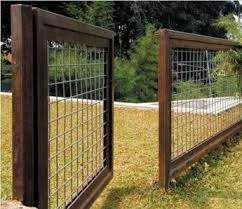 Image Result For How To Make A Gate For A Wire Fence Timberfenceideas Fence Planning Fence Design Hog Wire Fence