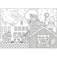 12x Papieren Sinterklaas Kleurplaat Placemats Feestserviezen
