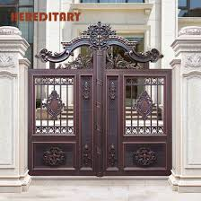 China Outdoor Main Fence Gate Design Wrought Iron Main Gate China Aluminum Gate Gate