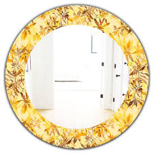 frameless oval or round wall mirror