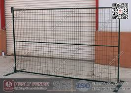 Dark Green Color Temporary Construction Fence Panels 8 X 10 Portable Temporary Fencing Panels