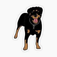Rottweiler Stickers Redbubble