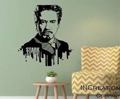 Iron Man Wall Decal Superhero Children Room Tony Stark Vinyl Wall Sticker Gift Ebay
