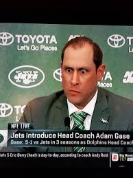 Adam Gase's bizarre facial expressions during his Jets introductory press  conference going viral