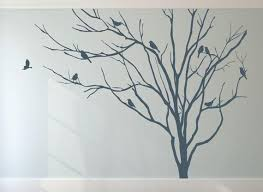 Wall And Window Decals Realistic Winter Tree Stick On Wall Art Etsy