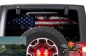 Eagle Flag Usa 2017 Wrangler Rear Window Decals Perforated Jk Wrangler