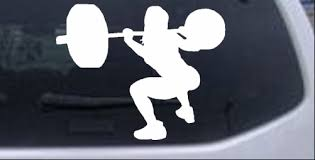 Female Weight Lifter Car Or Truck Window Decal Sticker Rad Dezigns