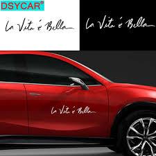 La Vita E Bella Car Decal Sticker Vinyl Pick Size Color Die Cut Italian B