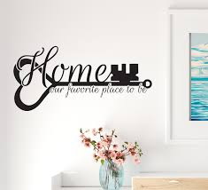Vinyl Wall Decal Home Our Favorite Place To Be Lettering Family Key St Wallstickers4you