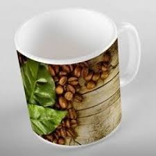 brown wooden coffee beans green leaves