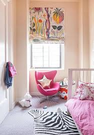 Kids Room With Pink Accent Chair Contemporary Girl S Room