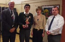 Principal Bertie Smith, Gary Wilkinson, Transition Year Student of ...