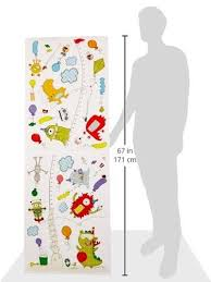 Monster Growth Chart Wall Decals By Dcwv Littlezahrabookstore