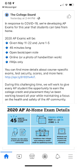 College Board 2020 At-Home / Online AP ...