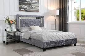 augusta crushed velvet bed frame