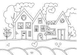Kleurplaat Huizen Kleur En Miks