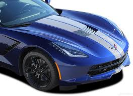 C7 Corvette Rally Racing Stripes Decals 3m Chevy Corvette 2014 2019 Auto Motor Stripes Decals Vinyl Graphics And 3m Striping Kits