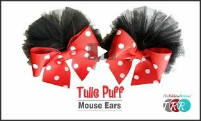 tulle puff mouse ears you thursday