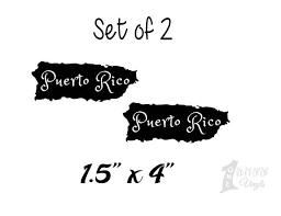 Puerto Rico Map Decal Boricua Sticker Pride Car Decal Etsy