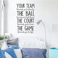 Amazon Com Enid545anne Volleyball Or Basketball Wall Decal Your Team Vinyl Decor For Girl S Bedroom Or Playroom Sports Decorations Kitchen Dining