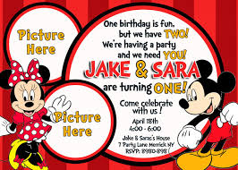 Mickey Minnie Mouse Birthday Invitation Invitacion De Mickey
