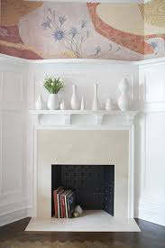 decorate empty space next to fireplace