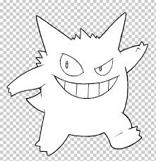 Ash Ketchum Gengar Coloring Book Pokemon Drawing Png Clipart
