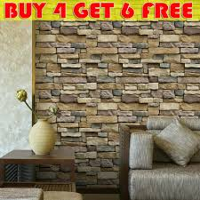 Waterproof Stone Brick Wall Sticker Self Adhesive Wallpaper Home Decor Wall Art For Sale Online Ebay