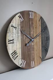 rustic wall clocks large rustic wall clock