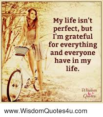 my life isn t perfect but i m grateful for everything and everyone