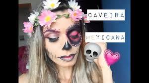 caveira mexicana half face skull makeup